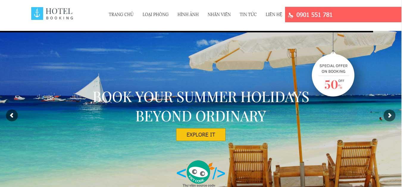 Source Code Hệ thống Website và Module Booking phòng dành cho Nhà Hàng Khách Sạn
