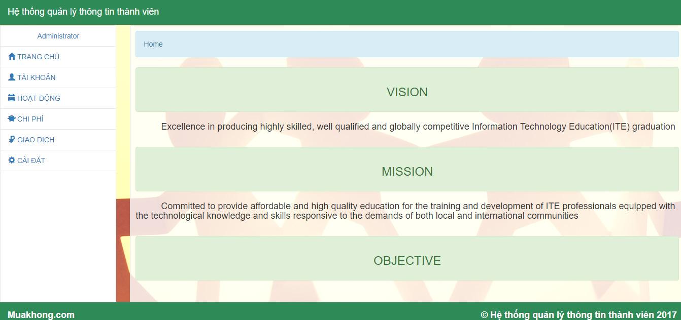 Code quản lý thành viên viết bằng PHP + Bootstrap
