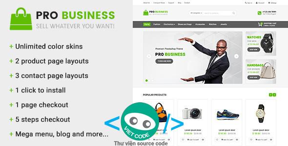 Code Website bán hàng đẹp gọn nhẹ và nhiều tính năng