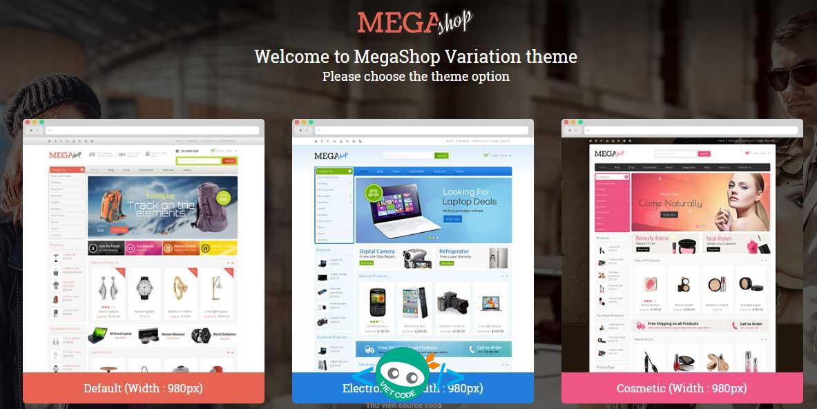 Share Themes Mega Shop WooCommerce WordPress Full