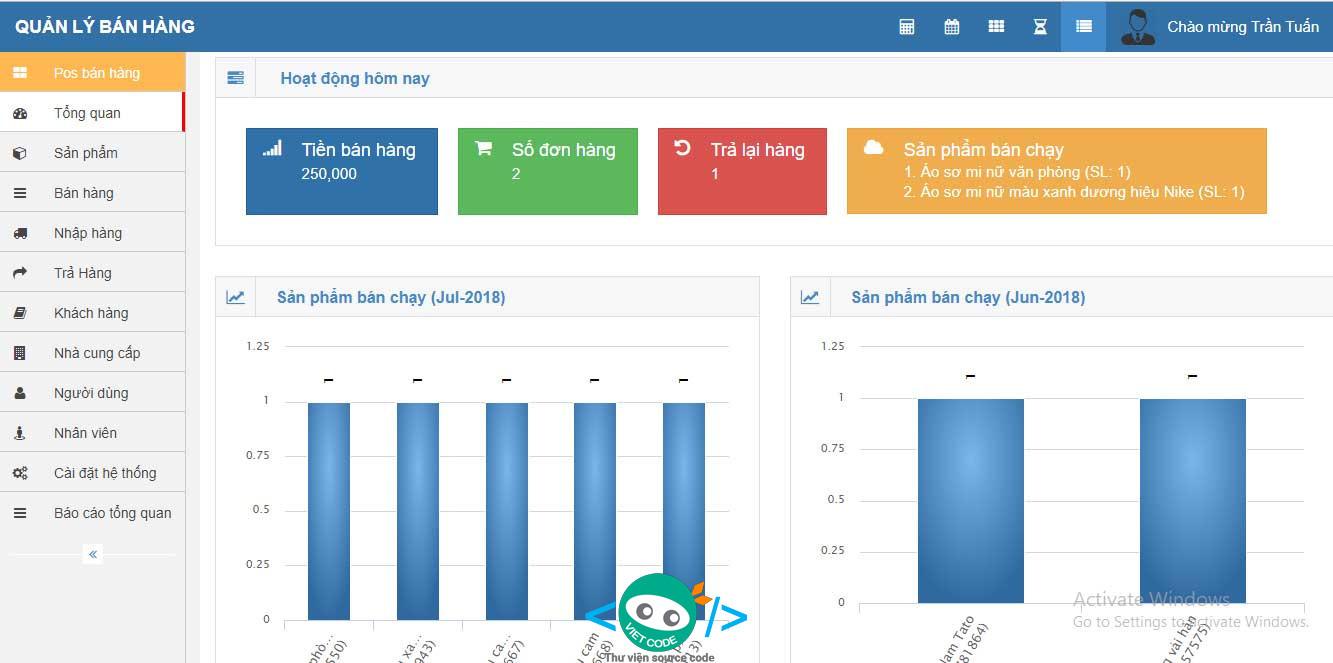Mã nguồn Phần mềm quản lý bán hàng đầy đủ chức năng giống với Suno bằng PHP