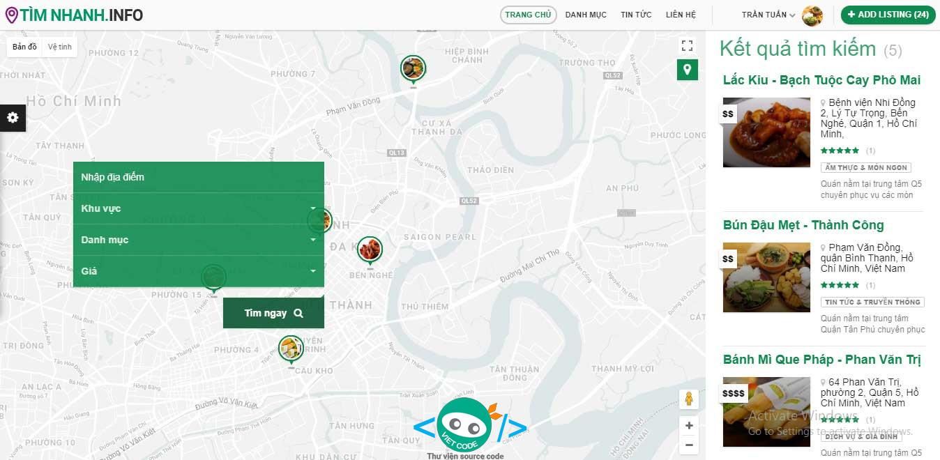 Website đánh dấu địa chỉ trên Bản đồ và Upload thông tin bằng PHP