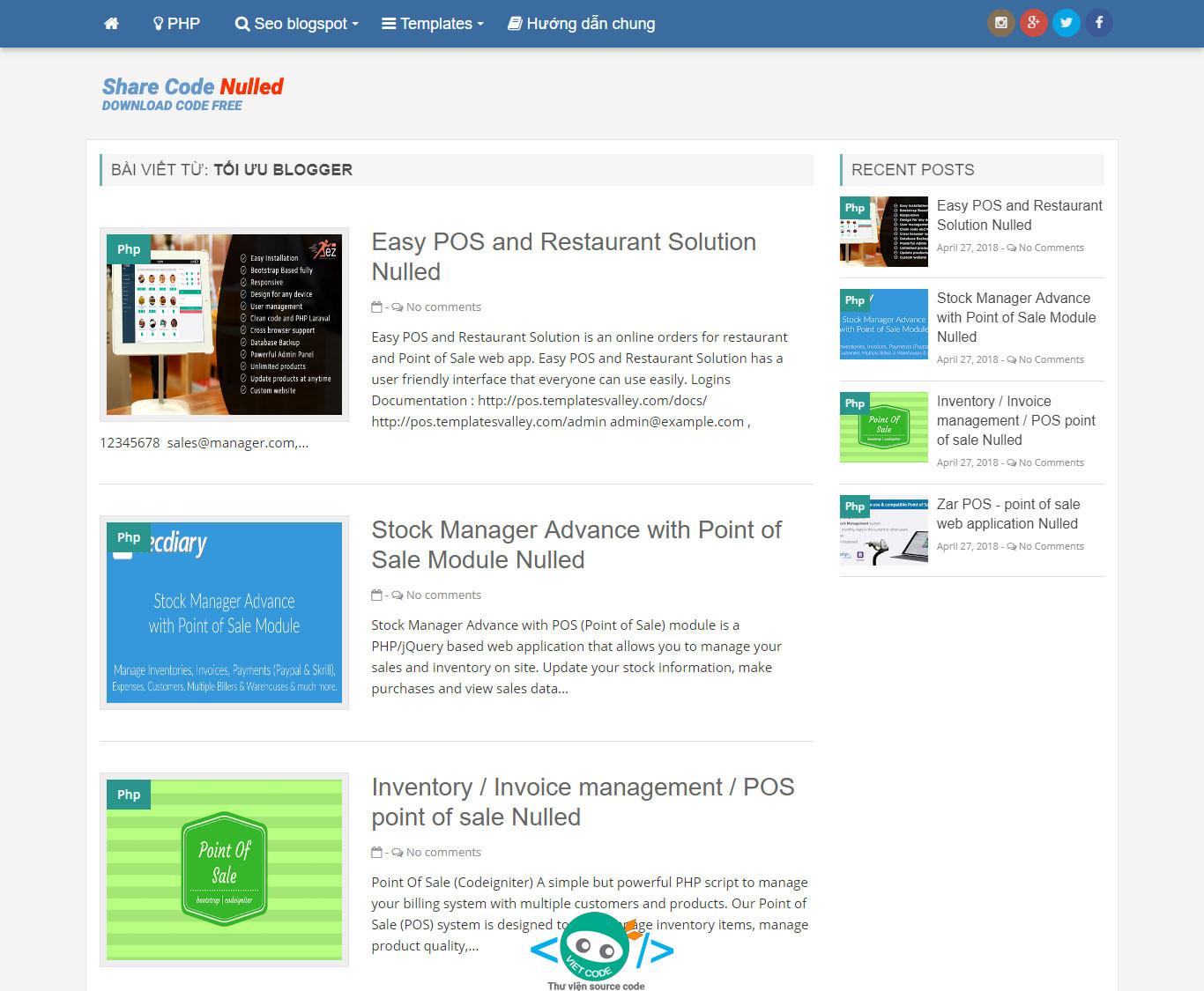 Chia sẻ Template Blogspost tin tức đẹp và tối ưu SEO