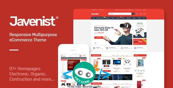 Chia sẻ Theme Javenist Multipurpose eCommerce WordPress Full Download