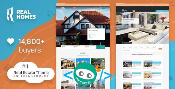 Chia sẻ Theme Bất động sản Real Homes WordPress Real Estate Full
