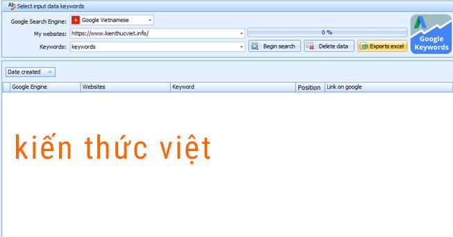 Phần mềm tìm từ khóa thứ hạn của Website trên Google viết bằng C#