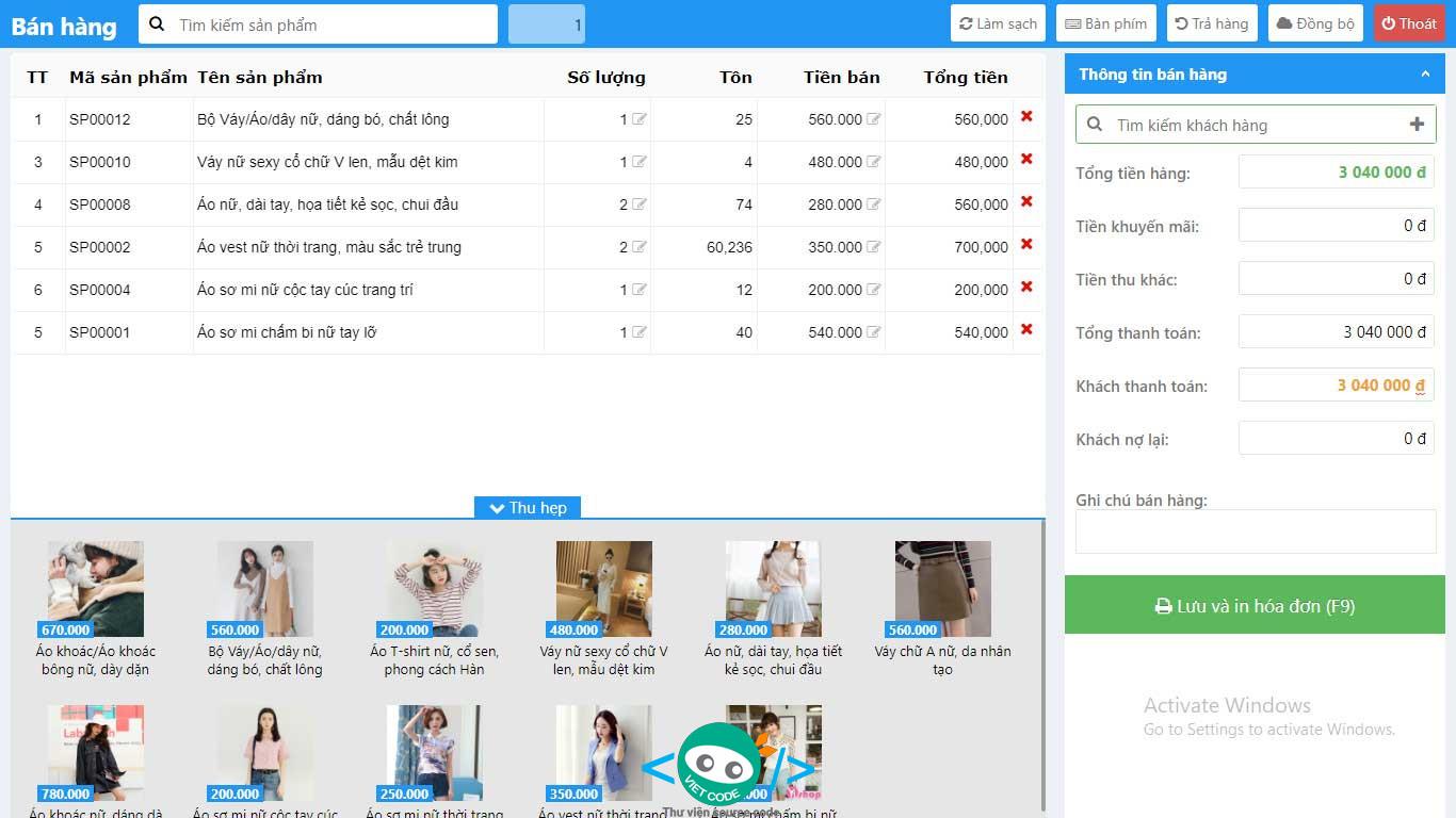 Hệ thống quản lý bán hàng chuyên nghiệp bằng PHP
