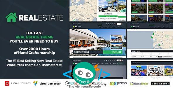 Chia sẻ Themes bất động sản Real Estate 7 WordPress Full Download