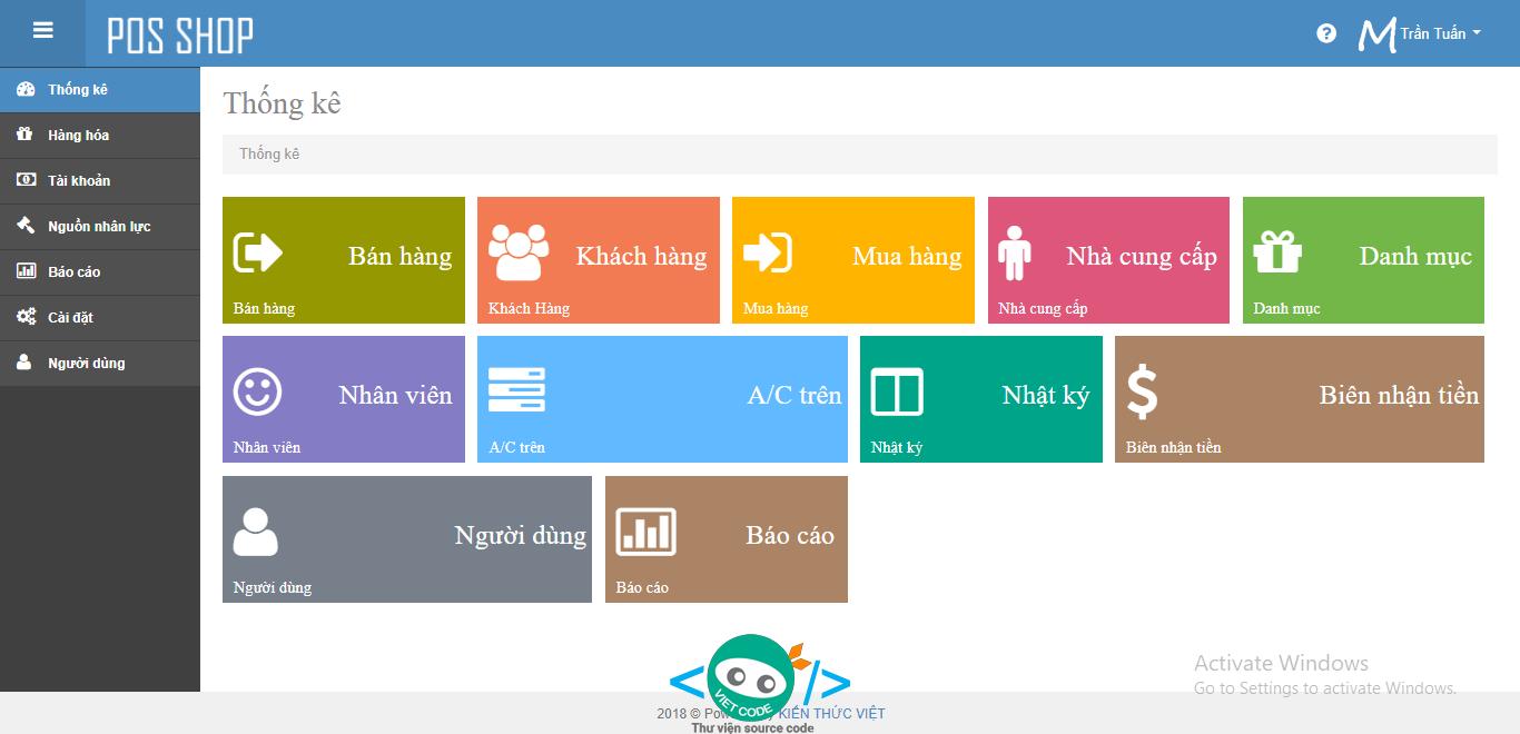Phần mềm bán hàng POS kết hợp với hệ thống kế toán Online