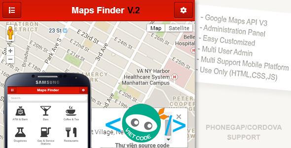 Source code Website tìm địa điểm ăn uống hoặc tìm địa chỉ ngân hàng