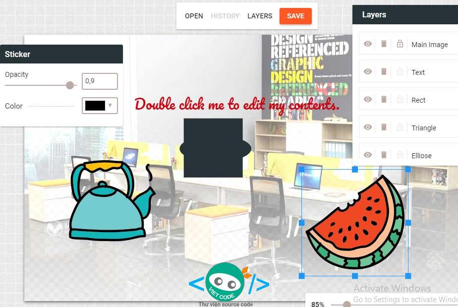 Source code website chỉnh sửa hình ảnh online với đầy đủ tính năng không thua kém gì Photoshop