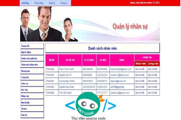 Phần mềm Quản lý nhân sự dành cho cơ quan nhà nước công ty lớn
