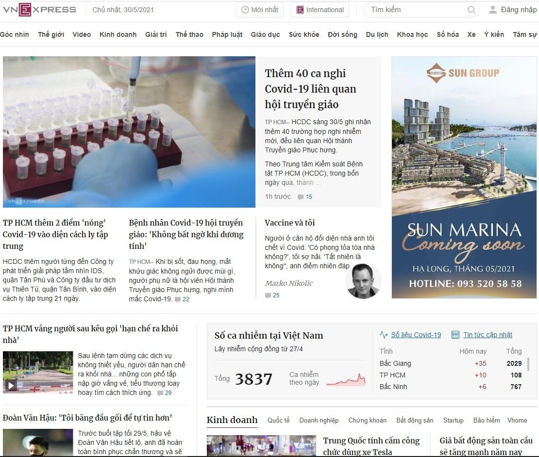 Website tin tức php gần giống VnExpress