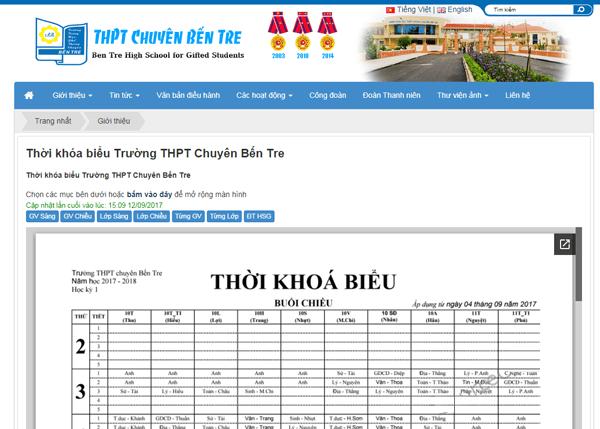 Source code quản lí thời khóa biểu của trường học bằng PHP...