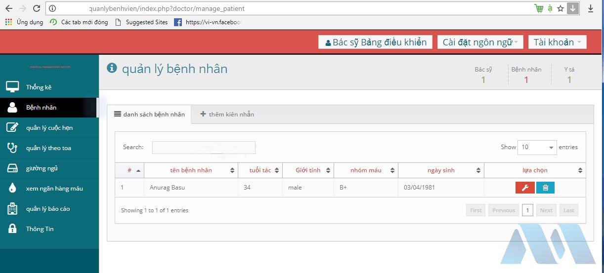 Source code quản lý bệnh viện bằng PHP + SQL cực hay...