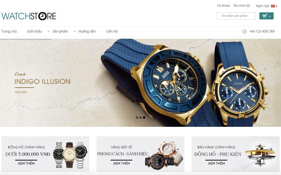 Source code website bán đồng hồ watch store chuẩn seo – TMDT b...